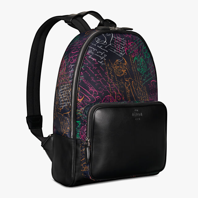 Time-Off Nylon Scritto Backpack, NAVY MULTICO, hi-res