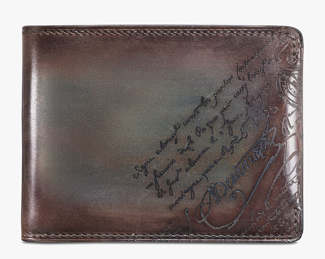 Essentiel Epure Scritto Leather Wallet, ICE BROWN, hi-res