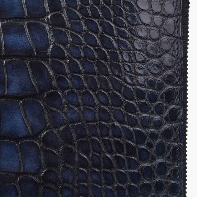 NINO GM 鳄鱼皮文件夹, NERO BLU, hi-res