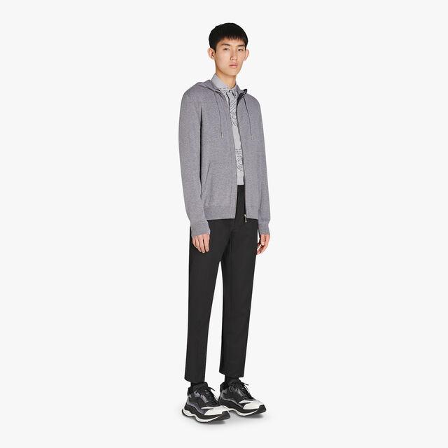 Regular Fit Embroidered Cashmere Zip-Up Hoodie Sweater, CASTLEROCK, hi-res