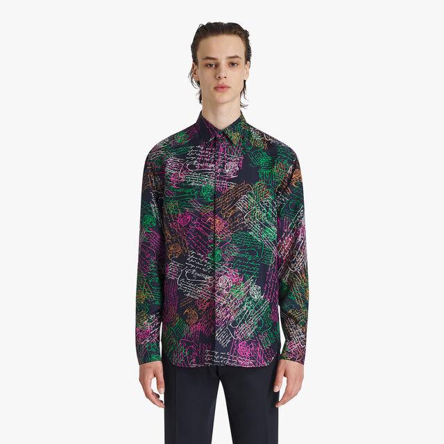 Oversize Silk Printed Shirt
