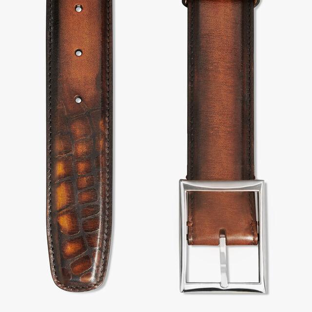 Classique Leather 35MM Patina Illusion Belt, TOBACCO BIS, hi-res