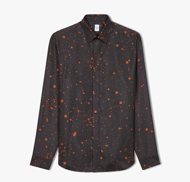 Patina Spot Silk Shirt, RAIN ORANGE, hi-res