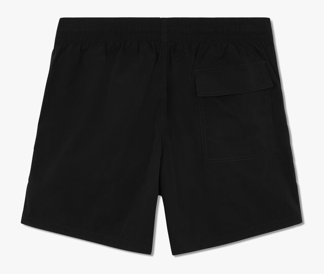 Mid-Length Swim Short With Fluo Details, NOIR, hi-res