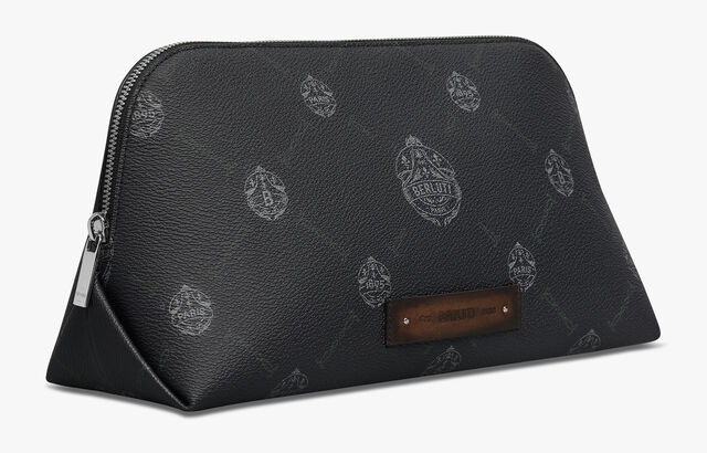 Companion Canvas and Leather Toiletry Pouch, BLACK + TDM INTENSO, hi-res