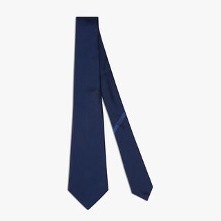 Cravate Scritto En Soie, MARINHO, hi-res