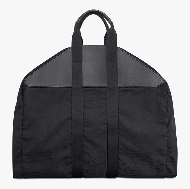 B-Way Scritto Nylon Garment Bag, NERO, hi-res