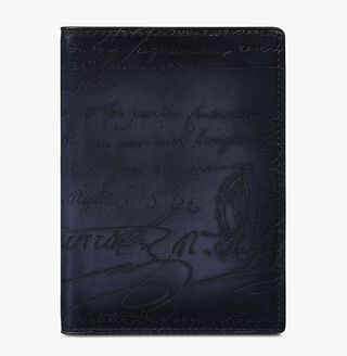 Cedrat Leather Passport Holder, NERO, hi-res