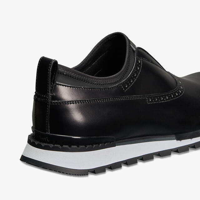 Fast Track Torino Glazed Calf Leather Sneaker, NERO, hi-res