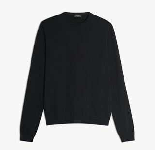 Wool Crewneck Sweater, NOIR, hi-res