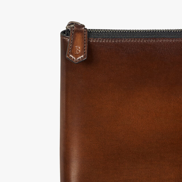 Nino Large Scritto Leather Document Holder, BRUN+IVORY, hi-res