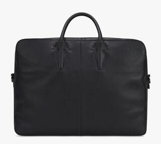 Cube Vitello Calf Leather Travel Bag, NERO, hi-res