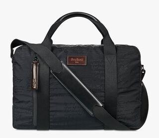 Evasion Nylon Calf Leather Travel Bag  , NERO, hi-res