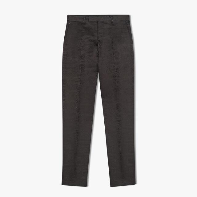 Pantalon Formel Alessandro En Laine Et Soie Scritto , NOIR, hi-res