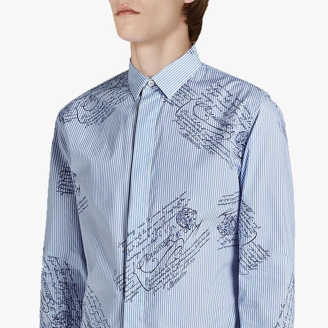 Scritto Cotton Shirt, ZENITH BLUE, hi-res
