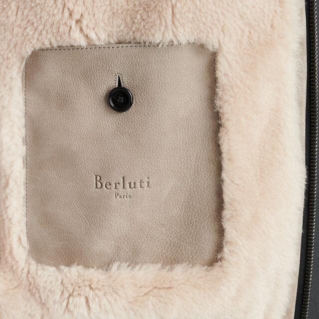 Leather Flight Jacket, IRON, hi-res