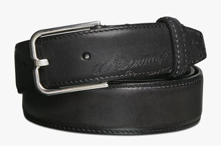Ceinture Essence En Cuir - 32 mm, DEEP BLACK, hi-res