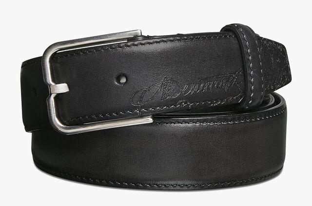 Essence皮革皮带 - 32毫米, DEEP BLACK, hi-res