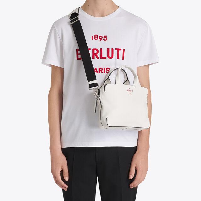 로고 자수 코튼 T-셔츠, BLANC OPTIQUE, hi-res