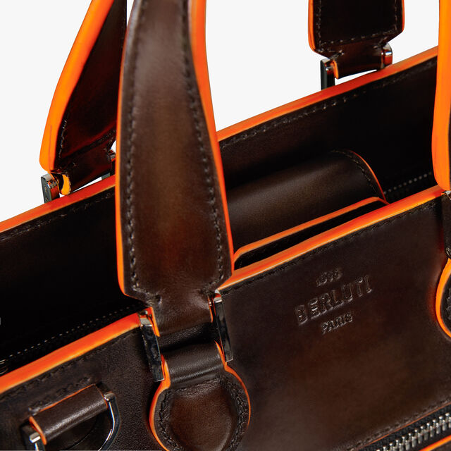 Journée Small Leather Tote Bag, TDM INTENSO + ORANGE, hi-res