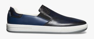 Burano Outline Leather Sneaker, BLU PROFONDO, hi-res