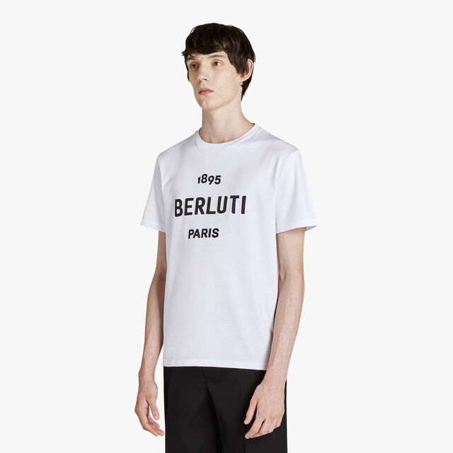 Regular Fit Cotton Jersey T-Shirt With Embroidered Logo, BLANC OPTIQUE, hi-res