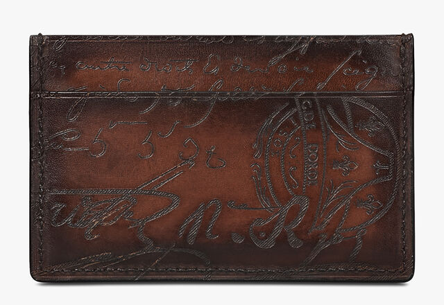 Bambou Mini Scritto Leather Card Holder, TDM INTENSO, hi-res