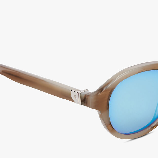 醋酸纤维Eclipse眼镜, IVORY HORN+AZURE, hi-res