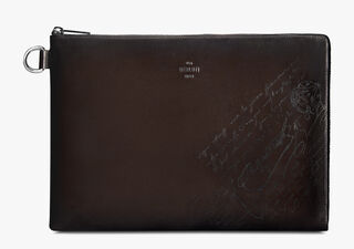 Nino GM Scritto Leather Clutch