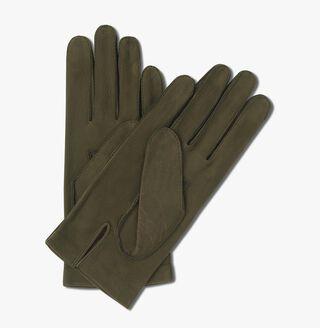 Nubuck Detail Scritto Gloves, VERT, hi-res