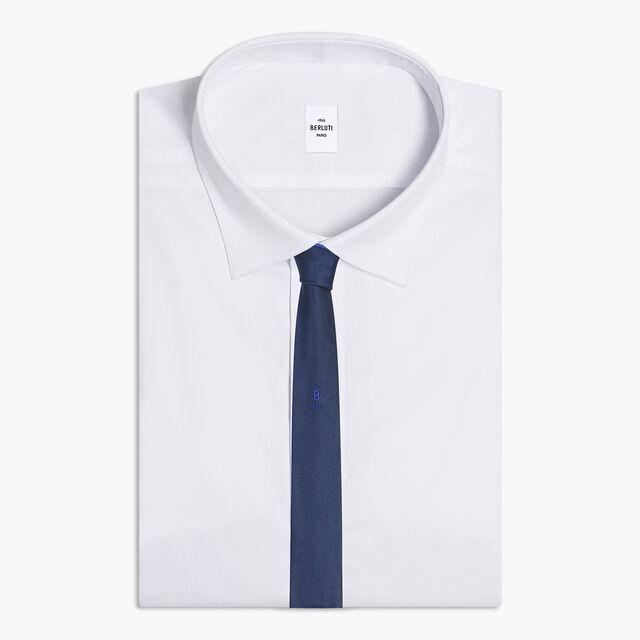 Cravate Double Face À Logo En Soie, ROYAL BLUE, hi-res