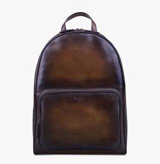 Time-Off Leather Backpack, TOBACCO BIS, hi-res
