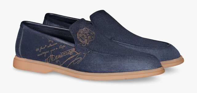 Latitude Suede Leather Loafer, NAVY, hi-res