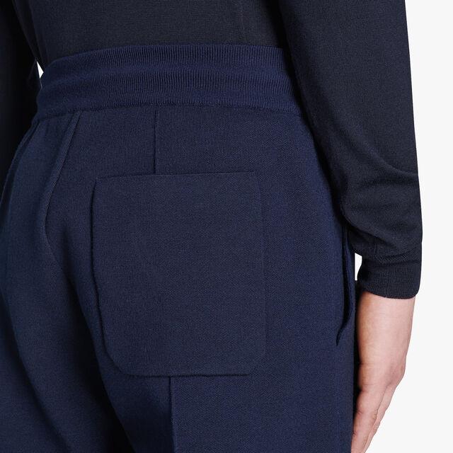 Regular Fit Wool Knit Pants, PLEIADES, hi-res
