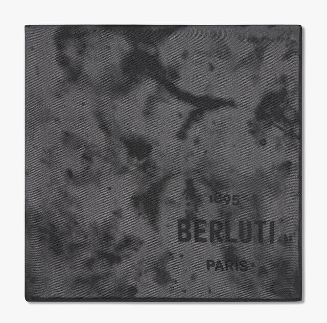 Marble-Print Silk Scarf, MARBLE FERRO, hi-res