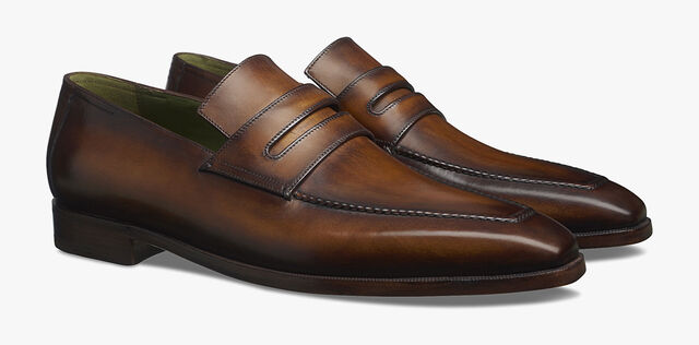 Andy Demesure Leather Loafer, CACAO, hi-res
