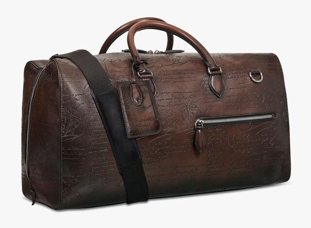 Weekender Medium Scritto Leather Travel Bag, TDM INTENSO, hi-res