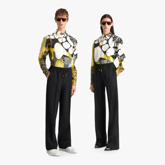 Brian Rochefort Printed Silk Shirt
