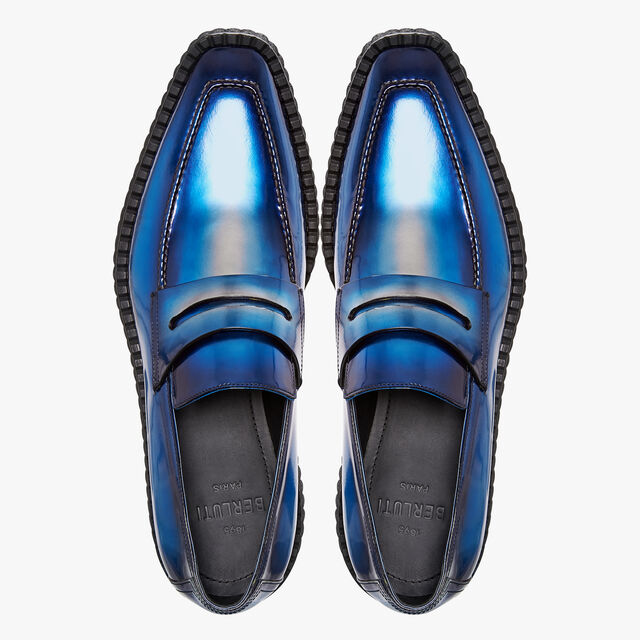 Andy Creepers Demesure Calf Leather Loafer, BLUE METAL, hi-res