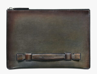 Handle Large Leather Clutch