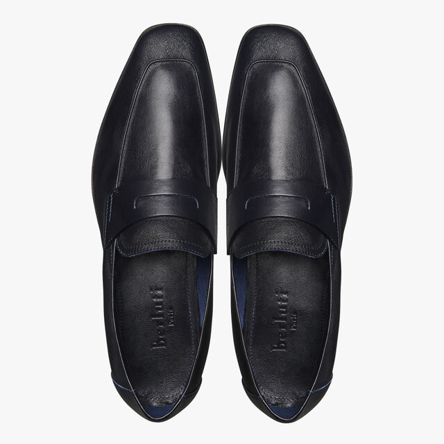 Lorenzo Kangaroo Leather Loafer, NERO, hi-res
