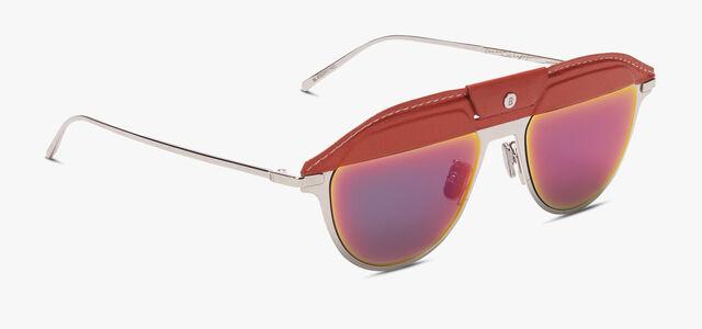 Phoenix Metal And Leather Sunglasses, TERRACOTA + AMARENTINE, hi-res