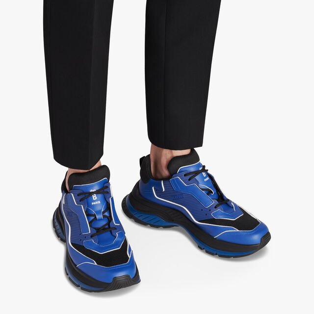 Gravity Calf Leather Sneaker, BLUE, hi-res