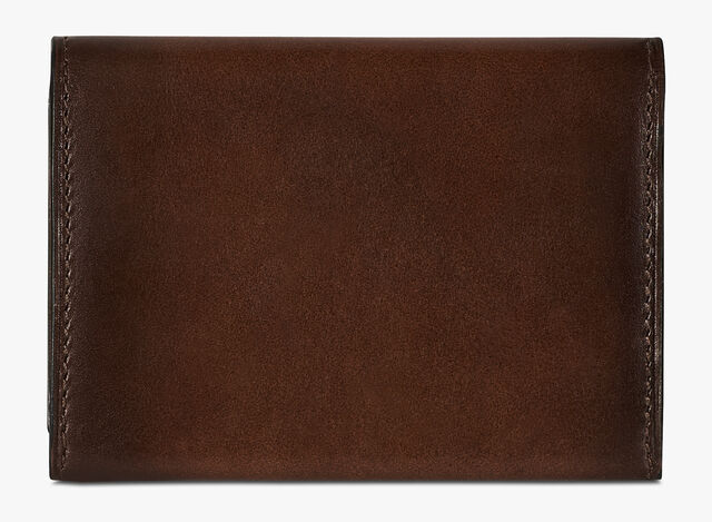 Vision Scritto Leather Card Holder, BRUN+IVORY, hi-res