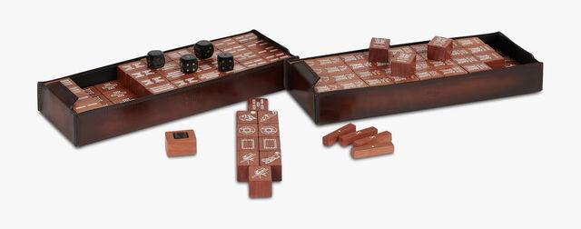Venezia Calf Leather Mahjong, BRUN, hi-res