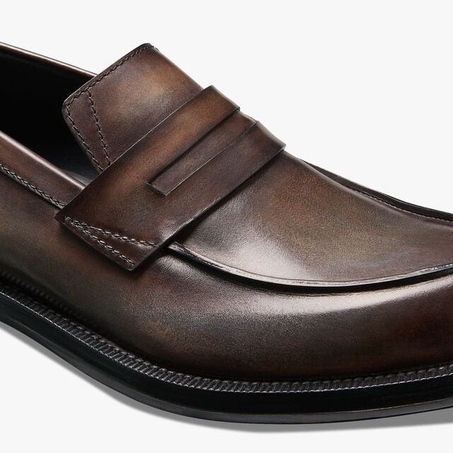 College Eclat Calf Leather Loafer, ICE BROWN, hi-res