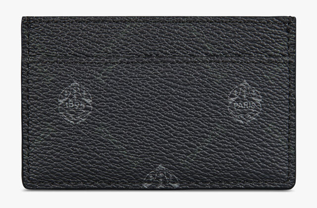 Séjour Canvas And Leather Card Holder, BLACK + SUKHNA SUNSET PURPLE, hi-res