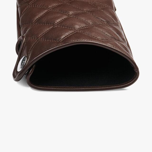 Lamb Leather Gloves, BRUN, hi-res