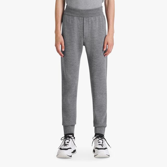 Pantalon En Laine Légère Avec Doublure Scritto, PEWTER GREY, hi-res
