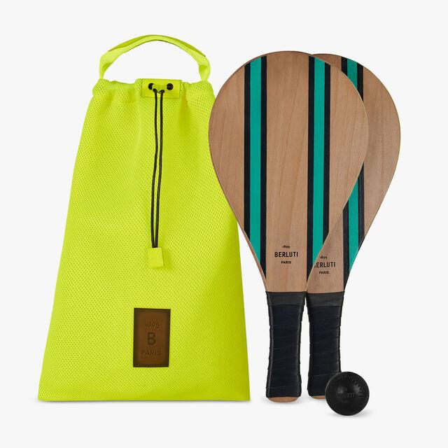 木制沙滩网球拍套装, NAVY BLU, hi-res